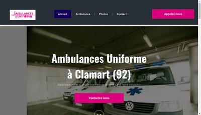 Site internet de Ambulances Uniforme