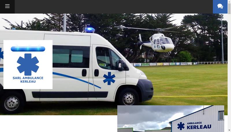 Capture d'écran du site de Ambulance Kerleau