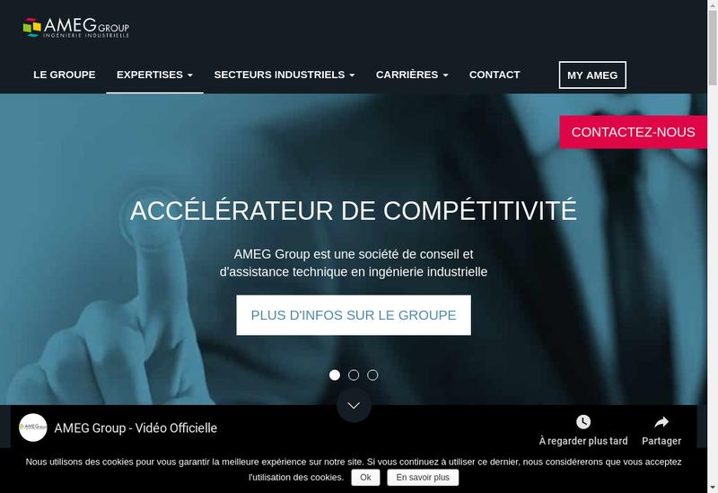 Capture d'écran du site de Ameg Group