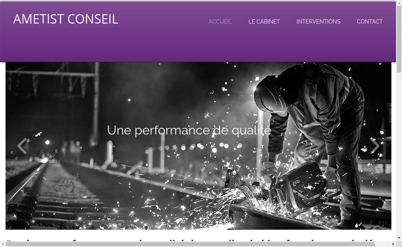 Capture d'écran du site de Ametist Conseil