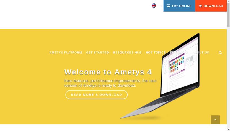 Capture d'écran du site de Anyware Services