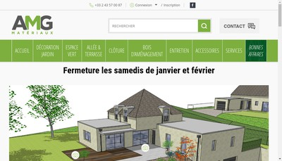 Site internet de Amg Materiaux