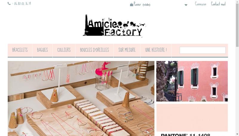Capture d'écran du site de Amicie Factory - Ma Jolie Papeterie