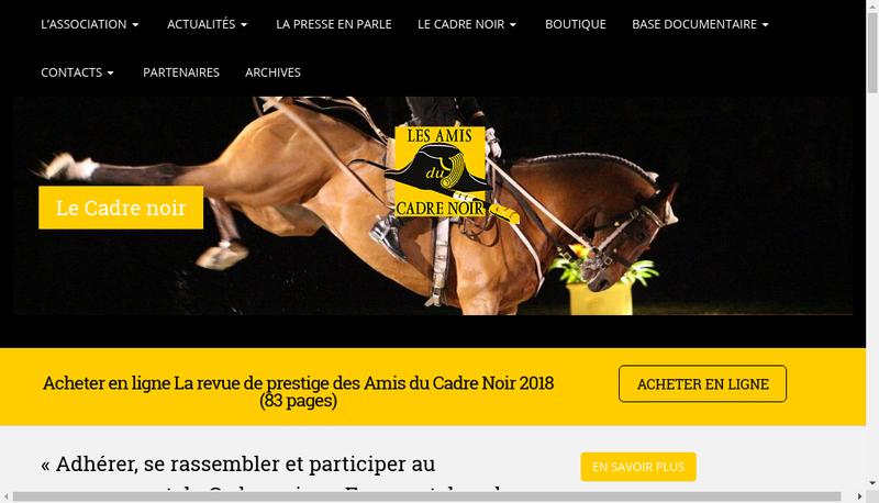 Capture d'écran du site de Les Amis du Cadre Noir