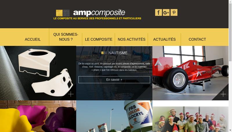 Capture d'écran du site de Amp Composite