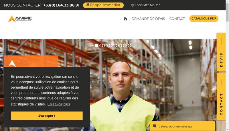 Capture d'écran du site de AMPIE France