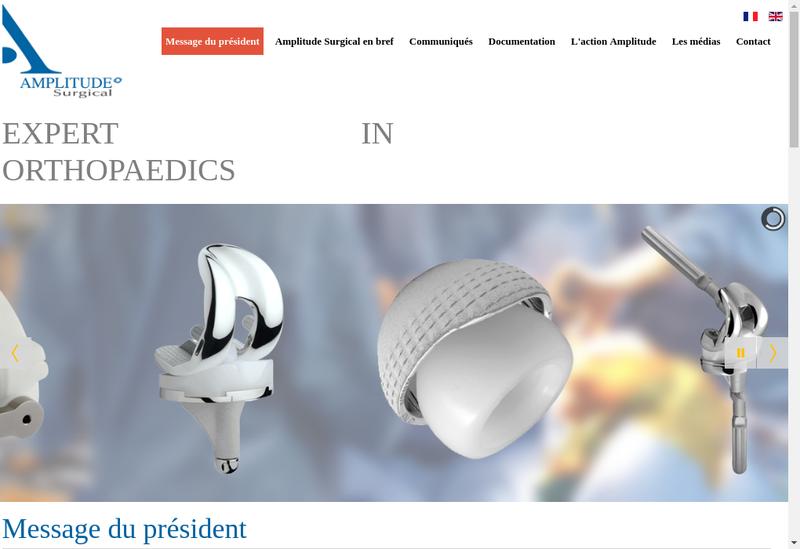 Capture d'écran du site de Amplitude Surgical