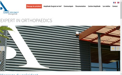 Site internet de Amplitude Surgical