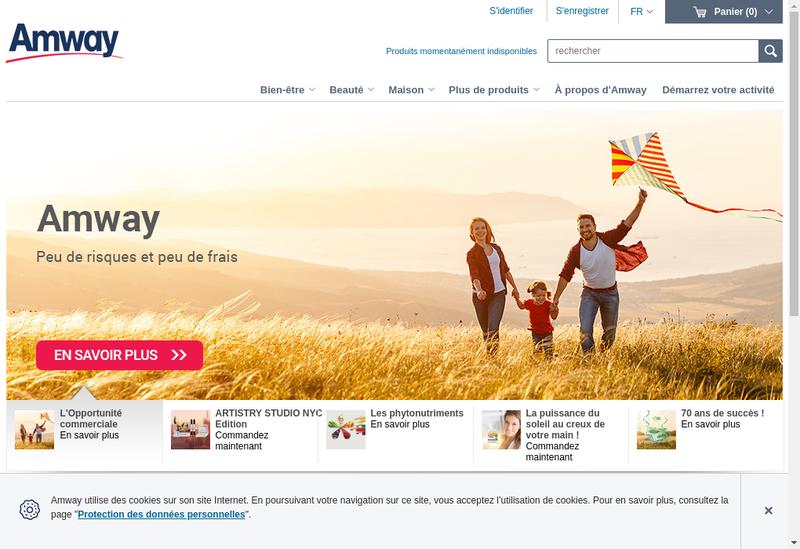 Capture d'écran du site de Amway France SARL - Amivo - Alticor