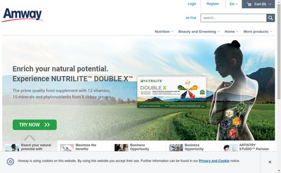 Site internet de Amway France Sarl - Amivo - Alticor