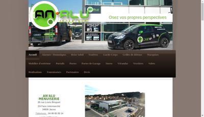 Capture d'écran du site de Analu Menuiserie