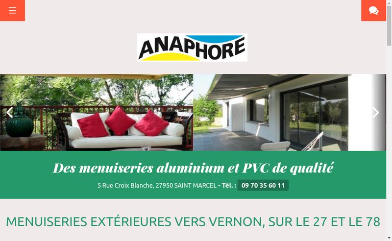 Capture d'écran du site de Anaphore