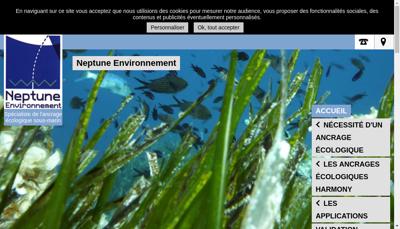 Capture d'écran du site de Neptune Environnement