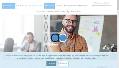 Site internet de Andertons Consulting