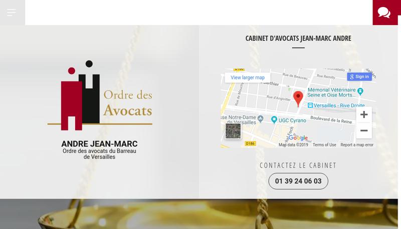 Capture d'écran du site de Jean Andre