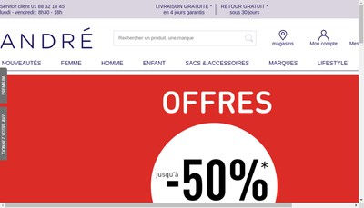 Site internet de Andre - Stock Andre
