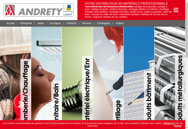 Capture d'écran du site de Andrety