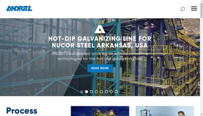 Capture d'écran du site de Andritz Perfojet SAS