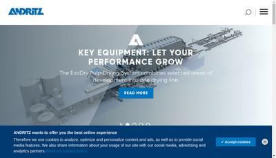 Site internet de Andritz Selas SAS