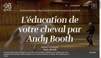 Site internet de Andy Booth Equitation Ethologique