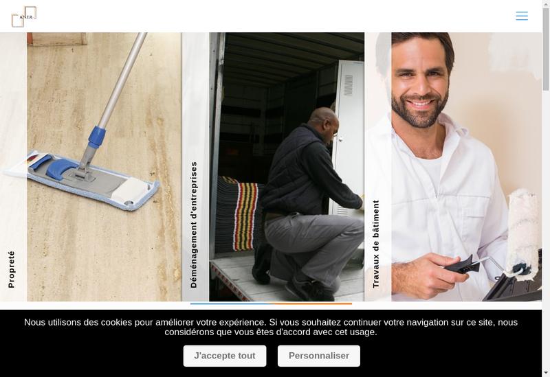 Capture d'écran du site de Aux Nettoyeurs Encaustiqueurs Reunis