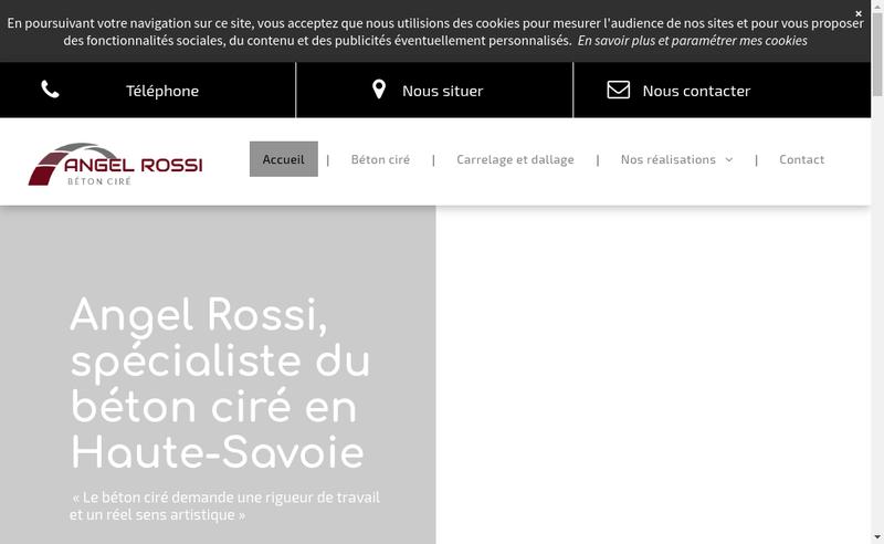 Capture d'écran du site de Angel Rossi