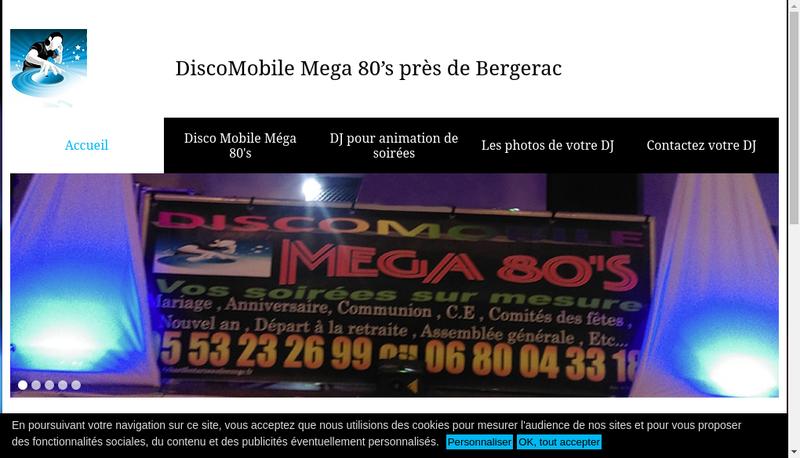 Capture d'écran du site de Richard Fontarneau