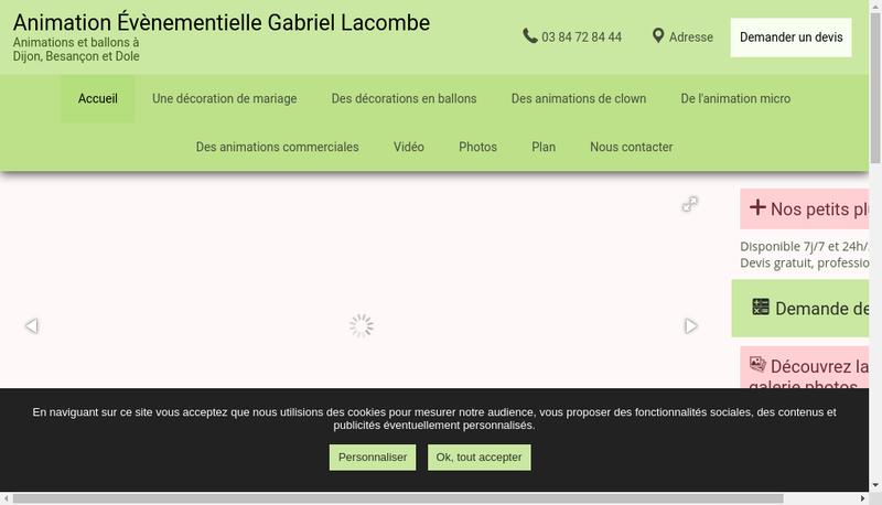 Capture d'écran du site de Gabriel Lacombe