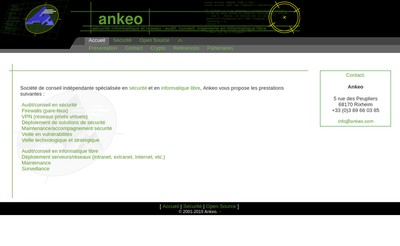 Site internet de Ankeo