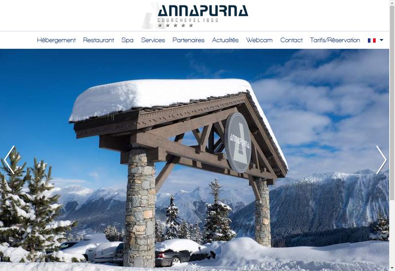 Capture d'écran du site de Hotel Annapurna