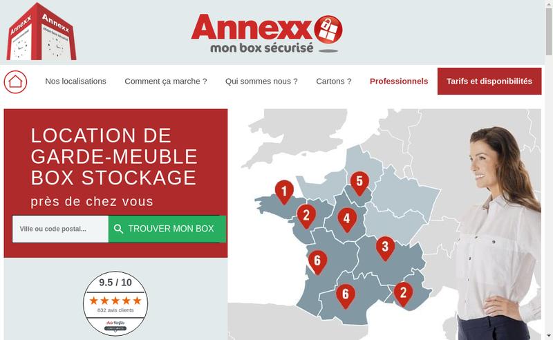 Capture d'écran du site de Annexx