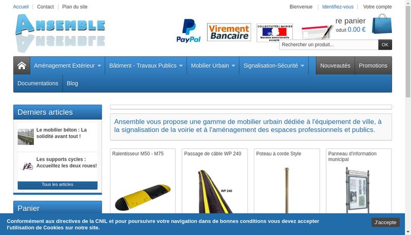 Capture d'écran du site de Ansemble