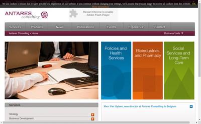 Site internet de Antares Consulting France