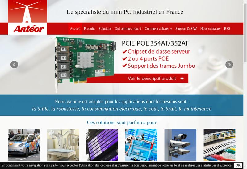Capture d'écran du site de Anteor