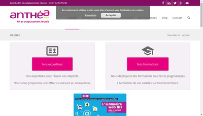 Site internet de Anthea Rh Conseils