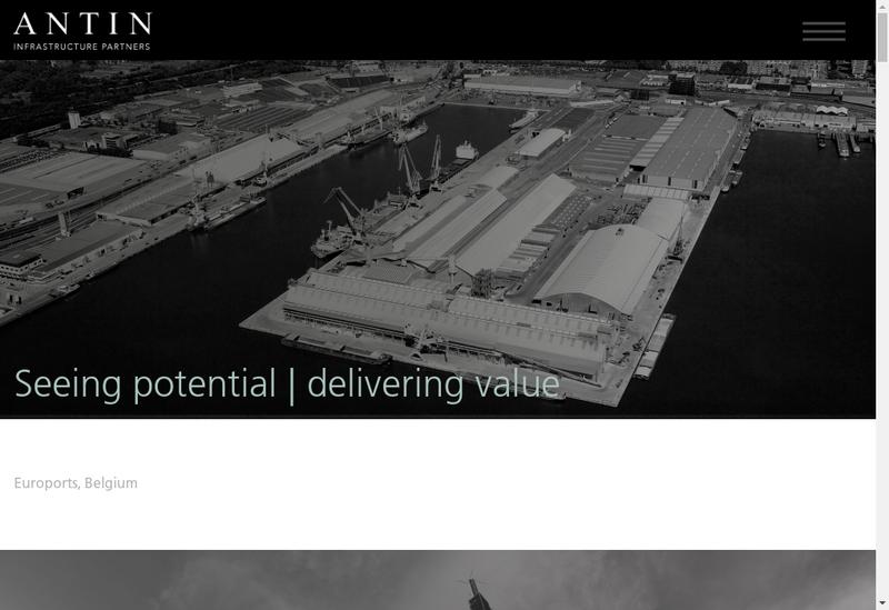 Capture d'écran du site de Antin Infrastructure Partners