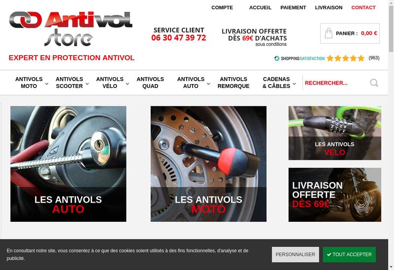 Capture d'écran du site de Loire Sites Web