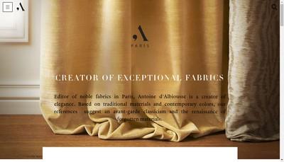 Site internet de Antoine d'Albiousse Editions