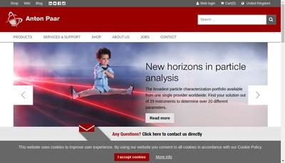 Site internet de Anton Paar France
