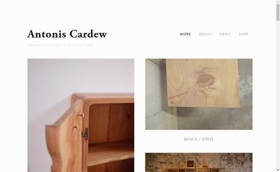 Site internet de Antonis Cardew