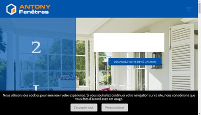 Site internet de Antony Fenetres
