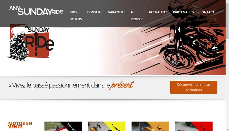 Capture d'écran du site de Anysundayride