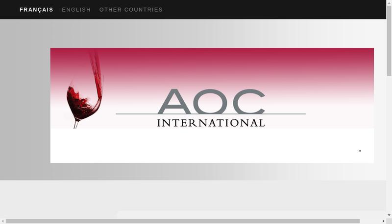 Capture d'écran du site de Aoc International