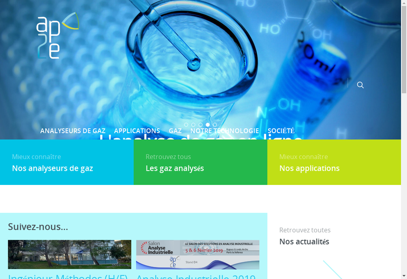 Capture d'écran du site de AP2E