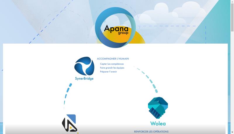Capture d'écran du site de Apana Group