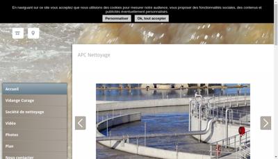 Capture d'écran du site de Apc Nettoyage