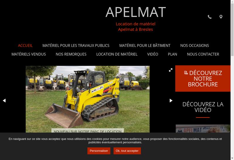 Capture d'écran du site de Apelmat