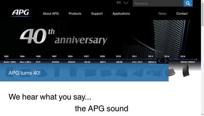Site internet de Apg France