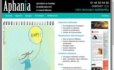 Site internet de Aphania