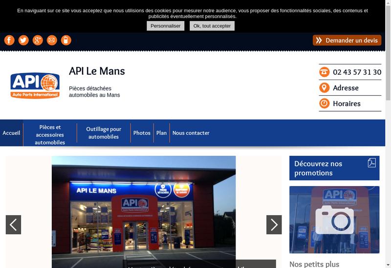 Capture d'écran du site de Gca Genuine Parts